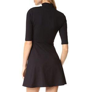 Susana Monaco Navy long sleeve mock neck dress